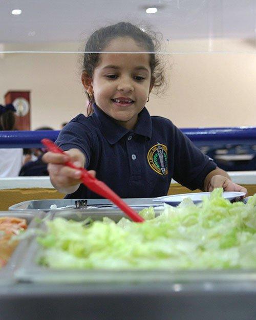 Salad bar Comedor Colegio Sek Las Américas